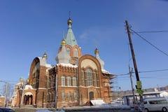 Nizhny Novgorod, Russland - 6. Februar 2017 Kirche der Darstellung Vladimir Icons der Mutter des Gottes lizenzfreies stockbild