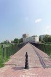 Nizhny Novgorod, Russland - 28. Juli 2016 Steg von der Straße Zalomova nach die Ufergegend Fedorovsky Lizenzfreie Stockfotos