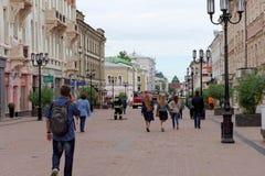 Nizhny Novgorod, Russland - 15. Juni 2016 Viele Autos des Ministeriums der Notsituationen kamen zu dem Anruf Lizenzfreie Stockbilder