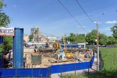 Nizhny Novgorod, Russland - 19. Mai 2016 Bau des Metrostation Lenin-Quadrats Stockfoto