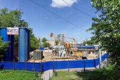 Nizhny Novgorod, Russland - 19. Mai 2016 Bau des Metrostation Lenin-Quadrats Lizenzfreie Stockfotos