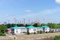 Nizhny Novgorod, Russland - 19. Mai 2016 Bau des Stadions in Nischni Nowgorod zur Fußball-Weltmeisterschaft 2018 Stockfotografie