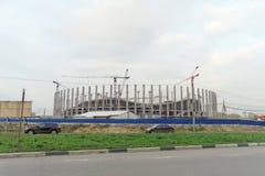 Nizhny Novgorod, Russland - 4. Oktober 2016 Bau des Stadions in Nischni Nowgorod zur Fußball-Weltmeisterschaft 2018 Stockbilder