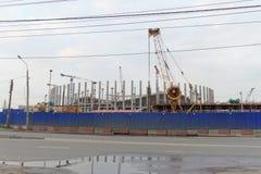 Nizhny Novgorod, Russland - 4. Oktober 2016 Bau des Stadions in Nischni Nowgorod zur Fußball-Weltmeisterschaft 2018 Stockfotos