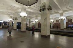 Nizhny Novgorod RYSSLAND - 02 11 2015 Inre av Arkivbilder