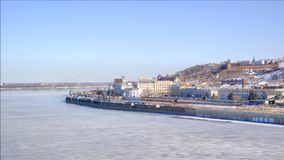 Nizhny Novgorod stads- liggande stock video