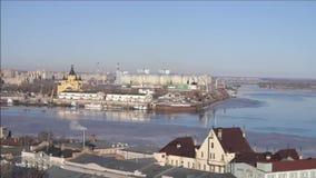 Nizhny Novgorod stads- liggande lager videofilmer