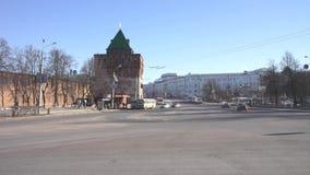 Nizhny Novgorod stads- liggande arkivfilmer