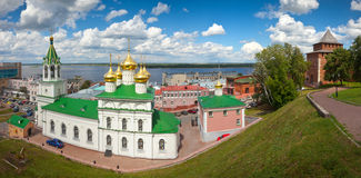 Nizhny Novgorod in summer day Royalty Free Stock Photography