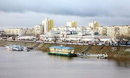 Nizhny Novgorod Trade Fair. In november stock photo