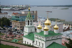 Nizhny Novgorod view with John the Baptist church Royalty Free Stock Image