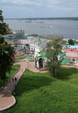 Nizhny Novgorod view with John the Baptist church Stock Photo