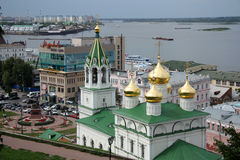 Nizhny Novgorod view with John the Baptist church Stock Photos