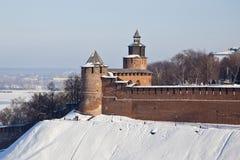 Nizhny Novgorod vinter Royaltyfria Bilder