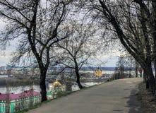 Nizhny Novgorod, vista do rio do ` s da cidade Fotografia de Stock Royalty Free