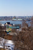 Nizhny Novgorod and Volga early spring Royalty Free Stock Images