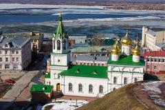 Nizhny Novgorod and Volga early spring Royalty Free Stock Photography