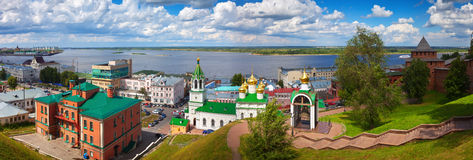 Nizhny Novgorod with Volga River Stock Photos