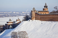 Nizhny Novgorod winter Stock Images