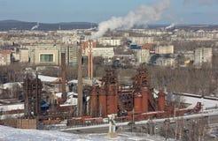 NIZHNY TAGIL, HET GEBIED VAN SVERDLOVSK, 09 RUSLAND-NOVEMBER, 2015: Foto van Demidov-fabriek Fabriek - Museum Stock Afbeelding