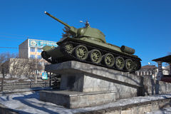 NIZHNY TAGIL, RUSSIA - MARCH 3, 2015: Photo of Tank  Stock Images