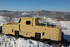 NIZHNY TAGIL, RUSSIE - 3 MARS 2015 : Photo du contact locomotif K-14 dans l'exposition VGOKa image stock