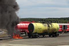 De trein van de brand Stock Afbeelding