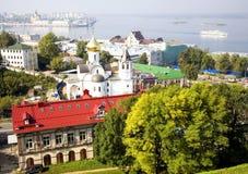 Nizhny Wrzesień widok Novgorod Rosja Fotografia Royalty Free