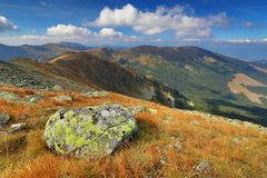 Nizke Tatry mountains. Autumn landscape of Nizke Tatry mountains in Slovakia stock photos