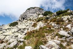 Nizna Magura peak on Otrhance mountain ridge in Western Tatras mountains in Slovakia Stock Photography