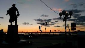 NizniyNovgorod俄罗斯晚上旅行 免版税库存图片