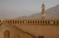 Nizwa castle minaret, Oman. The restored castel (fort) at Nizwa stock photography