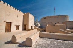 Nizwa fort. The Nizwa Fort is a massive castle in Nizwa, Oman. It was built in the 1650s by the second Ya'rubi Imam; Imam Sultan Bin Saif Al Ya'rubi,[1] Royalty Free Stock Photos