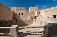 Nizwa fort. The Nizwa Fort is a massive castle in Nizwa, Oman. It was built in the 1650s by the second Ya'rubi Imam; Imam Sultan Bin Saif Al Ya'rubi,[1] Stock Photos