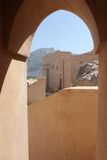 Nizwa Fort Castle detail of the Arch from inside Royalty Free Stock Photography