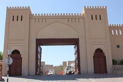 Nizwa Fort Castle entrance gate Stock Photography