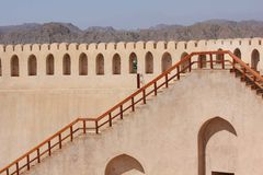 Nizwa Fort Castle, Oman Stock Photos