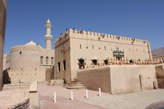 Nizwa Fort Castle, view from outside, Oman Stock Image