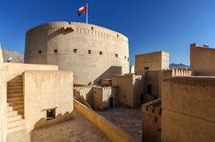 Nizwa Fort. The most popular fort in the Sultanate of Oman Stock Photos