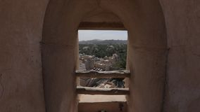 Nizwa Fort, Oman. View of Nizwa from the historic Fort, in Oman.  stock footage