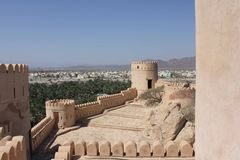 Nizwa fortslott, Oman Royaltyfria Foton