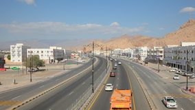 Nizwa highway, Oman stock video footage