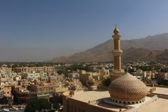Nizwa Oman from its 17th Century Fortress royalty free stock photography