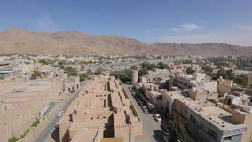 Nizwafort, Oman Weergeven van Nizwa van het historische Fort, in Oman stock videobeelden