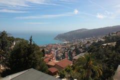 Nizza in Francia da lontano fotografia stock libera da diritti