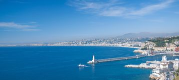 Nizza,French Riviera,South of France. Nizza or Nice at the french Riviera,South of France,Cote d`Azur Stock Image