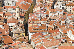 Nizza roofs. View from above over the roofs of the old town of the city of Nice Royalty Free Stock Photography