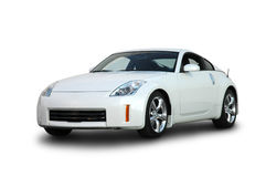 Nizzan 350Z. A front view of a Nissan 350Z sports car, isolated on white background with clipping path. See my portfolio for more automotive images stock photo