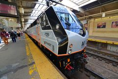 NJ在纽瓦克驻地,新泽西的运输机车 免版税库存图片