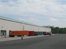 NJ的繁忙的仓库,美国 免版税库存照片